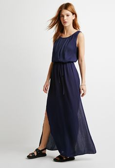 Box-Pleated Maxi Dress | LOVE21 - 2000115039