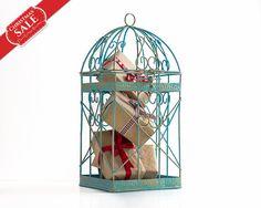 Shabby Chic Christmas Home Decor Christmas Decorations-Christmas Gifts Box Alternative-Bird Cage-Wedding Card Box