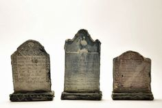 3 New England Graves Miniature Halloween by ParticularlyUnusual
