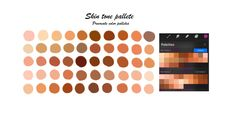 Skin tones Procreate palette /Portrait palette / 2 color swatches / instant download Colors For Skin Tone, Palette, Color Swatches, Gems And Minerals, Some Pictures, Planner Stickers, Digital Prints, Portrait, Handmade Items