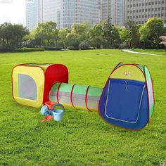 Kids Pop Up Playing Tent Adventure House Crawl Tube Tunnel Indoor Outdoor New & Outdoor Play Tent for Kids Pop Up Playhouse Tunnel Indoor House ...