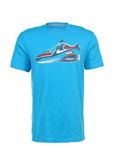 Футболка Nike / Найк Цвет: голубой. Сезон: Весна-лето 2014. С бесплатной доставкой и примеркой на Lamoda. http://j.mp/1uD6mqW