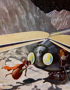 The bugs space ship is called Fantasie by Curious Expeditions, via Flickr