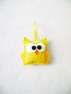 Ignatius the Baby Owl  Felt Ornament by RedMarionette on Etsy