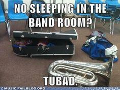 Its like where's waldo's tuba