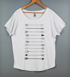 Arrow Dolman Tee - Heather White | Women's Clothing | Feather 4 Arrow | Scoutmob Shoppe | Product Detail