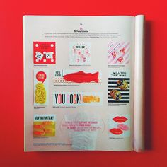 clip art designs in the February issue of @marthastewart designed by erin jang