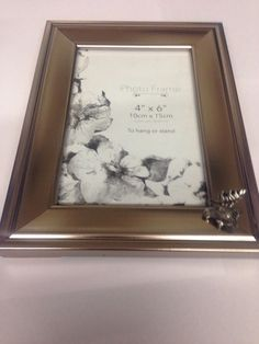 a27 moose head picture frame silver emblem 6x4 4x6 hang or stand