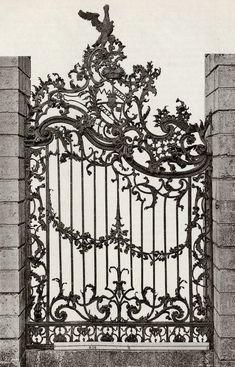 petitpoulailler: f-featherbrain: 1885 Kunstgewerbeblatt (Arts Journal) . Old Gates, Metal Gates, Wrought Iron Fences, Wrought Iron Doors, Garden Doors, Garden Gates, Balcony Garden, Hotel Gast, Iron Art