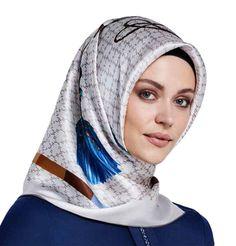 Armine Turkish Silk Square Hijab Scarf Spring Summer 2016  7481. CoutureFoulard  CarréPrintemps Été 2016Pierre CardinSoie d0f8d87ebda
