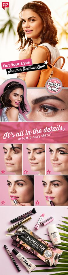 Play up festival season in looks by Soap & Glory! You won't believe your eyes: Buy 2, get 3rd FREE, all Soap & Glory products!