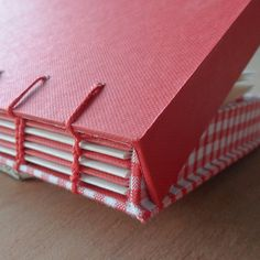 Coptic bound book with a drop back box as covers by Adelene Koh