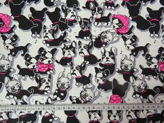 2497 Adorable Bulldog Fabric Lovely Puppy Fabric by IKOplusFabric