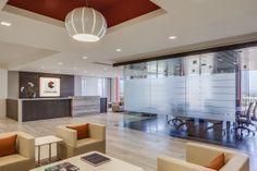 CoreLogic Headquarters | Reception Area| Lobby | Corporate ID Sign | Interior Design by H.Hendy Associates of Newport Beach, California