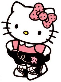 Fifties Hello Kitty in her poodle skirt..even she loves it!!!