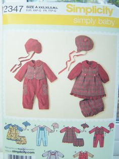 Simplicity 2347 Infant Sewing Pattern Baby Romper by WitsEndDesign
