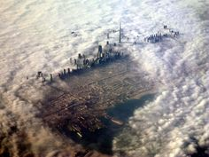 An aerial picture of cloud shrouded Dubai