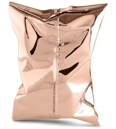 Anya Hindmarch Crisp Packet Clutch In Solid Gold $95,000