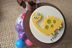 Dinosaur Themed Birthday Party Favor Tags (12)