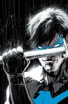 NIGHTWING RENACIMIENTO # 1 Ha sido Robin, Batman, un espía, un fantasma.  Ahora, Dick Grayson vuelve a Gotham City para recuperar la vida que fue tomado de él.  Pero cuando un nuevo mal amenaza a los que más le gusta, Nightwing se enfrenta a ser arrancado de su casa una vez más con el fin de destruir la fuerza oscura de una vez por todas.  casa de máquinas artista Yanick Paquette (BATMAN, cosa del pantano) se une a escritor de la serie Tim Seeley (Grayson, BATMAN Y ROBIN ETERNA) para volver…