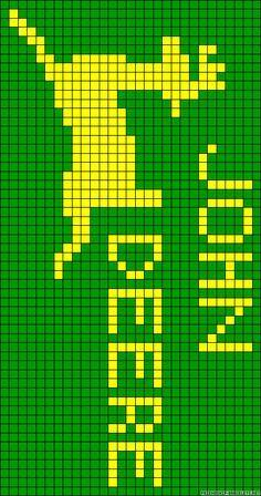 John Deere x-stitch Knitting Charts, Knitting Patterns, Crochet Patterns, Blanket Patterns, C2c Crochet, Crochet Cross, John Deere Tratores, Loom Beading, Beading Patterns