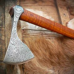 @Regrann from @papstomahawks - Finally I have manage to finish this damascus viking axe. This was really a challenge! I have learned a lot recently about damascus thanks to my brother. I will post more soon! :) #axe #axemaking #tomahawk #handmade #handforged #bushcraft #campaxe #papstomahawks #polishknifemakers #custom #viking #vikingaxe #damascus #Regrann