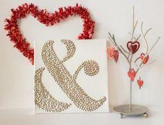 Valentine Ampersand Thumbtack Art
