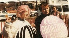 Cyndi Lauper and Debbie Harry late nineties New York City