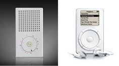 Interesting, no? That's the Braun T3 Pocket Radio next to Apple's first-generation iPod.