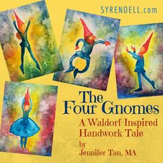 Our Waldorf-Inspired Four Gnomes Handwork eBook - Story Song and Verse is in the Syrendell Etsy store!