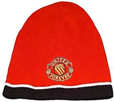 United for Ever Red Beanie Hat with United for Ever Crest