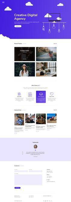 Ardis - Creative Agency PSD Template by GreenLight_Studio Web Design Agency, App Ui Design, Site Design, Email Marketing Agency, Business Marketing, Business Cards, Digital Marketing, Design Your Own Website, Corporate Website