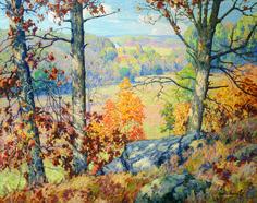 Maurice Braun -  Landscape (probably Connecticut) c. 1910
