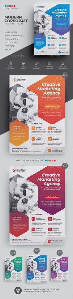 Corporate Business Flyer - Corporate Flyers Business Flyer Templates, Flyer Design Templates, Corporate Flyer, Corporate Business, Brochure Design, Branding Design, Print Advertising, Advertising Agency, Flyer Design Inspiration