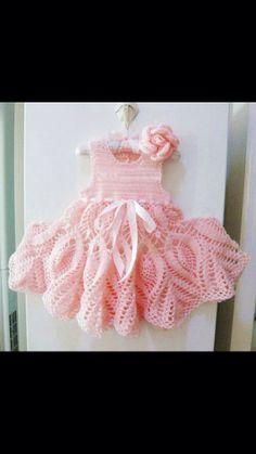 Crochet for Baby Dress, Baptism Dress, Christening Dress