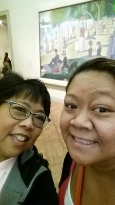 Me and sis. Art museum in chicago.