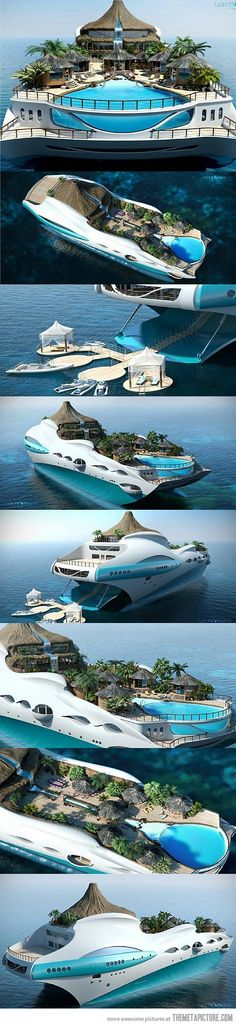 Funny pictures about Island cruise. Oh, and cool pics about Island cruise. Also, Island cruise photos. Lac Tahoe, Floating House, Floating Island, Cool Boats, Yacht Boat, Dream Vacations, Places To See, Beautiful Places, Around The Worlds