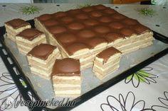 Piškótové Tango rezy s pudingovým krémom! Czech Desserts, Cookie Desserts, Sweet Cookies, Sweet Treats, Czech Recipes, Hungarian Recipes, Healthy Sweets, Sweet And Salty, International Recipes