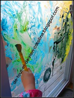 Easy window paint recipe. Covers well and easy to clean.