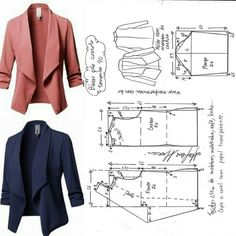 Best 11 Blazer Sewing Pattern Casual Pattern Inspiration For The Non Girly Sewist Allspice Abounds Easy Sewing Patterns, Vogue Patterns, Coat Patterns, Clothing Patterns, Dress Patterns, Vintage Patterns, Vintage Sewing, Blazer Pattern, Jacket Pattern
