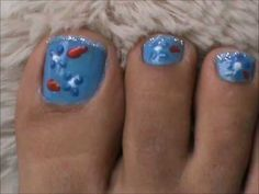 Toe Nail Art with 3D nail art pens- design ideas, cost, price and easy nail designs for beginners