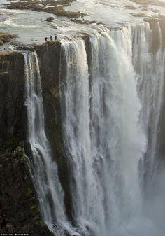 On the Edge, Victoria Falls, Zambia  photo via dailymail