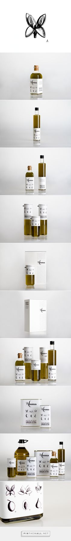 Aloma organic olive oil by Zhamora on Behance curated by Packaging Diva PD. Love this pretty illustrated olive oil packaging.