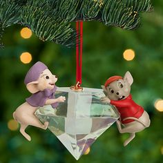 Bernard and Miss Bianca Sketchbook Ornament - The Rescuers | Ornaments | Disney Store
