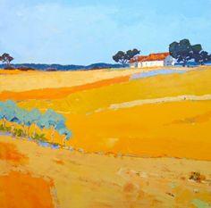 Phyllis Calvin Thomas Bright landscape painting