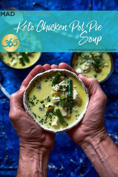 Mad Creations Keto Chicken Pot Pie Soup #ketorecipes #ketogenicdiet  #thermomixrecipes #ketothermomix #thermomixketo #lowcarbrecipes #madcreations #chickenpotpiesoup #ketosoup