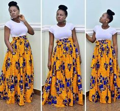 Sandra Ankara maxi skirt// African skirts / African skirts for women / African print skirt / Skirts for women / long skirts for women African Maxi Dresses, African Attire, African Wear, African Women, African Print Skirt, African Print Fashion, African Fabric, Ankara Fabric, Ankara Rock