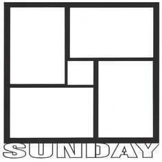 Sunday 12 x 12 Overlay Laser Die Cut ($4.50) ❤ liked on Polyvore featuring day, frames, borders and picture frame