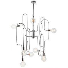 Corrine Chrome Metal Pendant Lamp   Memoky.com