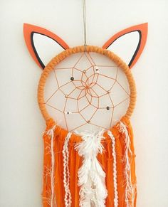 If you are looking for the perfect addition to your woodland themed bedroom or nursery, look no further! Benny the Fox Dream Catcher would be a cute fit for any little boys space! These catchers are made to order and are hand crafted with love and good intentions. Materials include